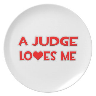 A Judge Loves Me Party Plate