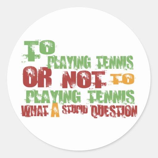 A jugar a tenis pegatinas