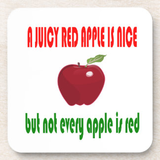 A juicy red apple is nice coaster