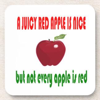 A juicy red apple is nice coaster