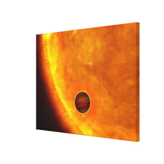 A Jupiter-sized planet Canvas Print