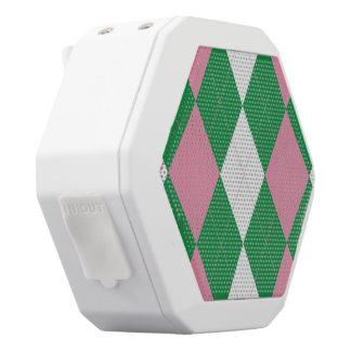 A.K.A Argyle rosado y verde Boombot Altavoz