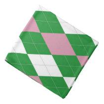 A.K.A Pink & Green Argyle Bandana
