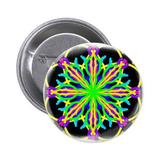 A Kaleidascope Maze in Rainbow Gifts Pinback Button