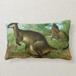 A Kangaroo and Her Joey Throw Pillows