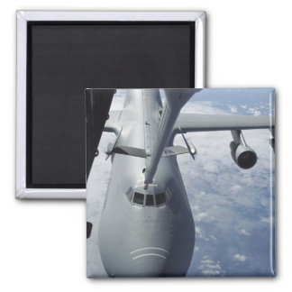 A KC-10 Extender prepares to refuel a C-5 Galax 2 Inch Square Magnet