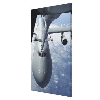 A KC-10 Extender prepares to refuel a C-5 Galax Canvas Print