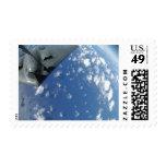 A KC-135 Stratotanker refuels a B-2 Spirit Postage Stamp