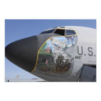 A KC-135 Stratotankerdisplaying patriotic nose Photo Print