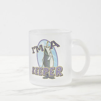 A Keeper Fishing T-shirts and Gifts Frosted Glass Coffee Mug