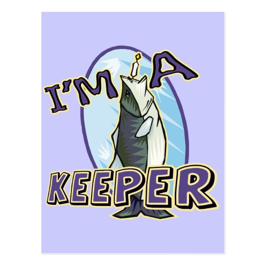 A Keeper Fishing T-shirts and Gifts Postcard