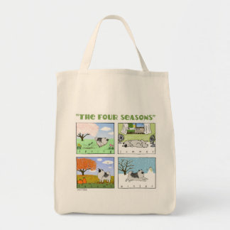 A Keeshond's Four Seasons Canvas Bags