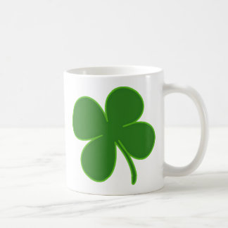 A Kelly Green Shamrock Classic White Coffee Mug