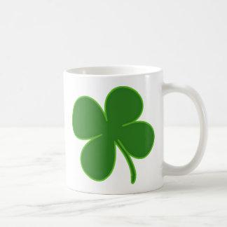 A Kelly Green Shamrock Coffee Mug