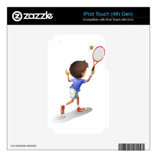 A kid playing tennis iPod touch 4G skins
