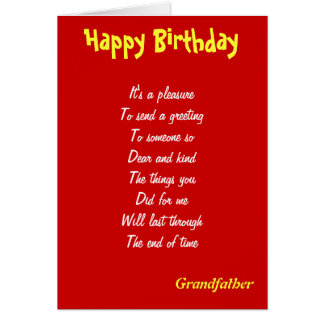 A kind grandfather birthday cards