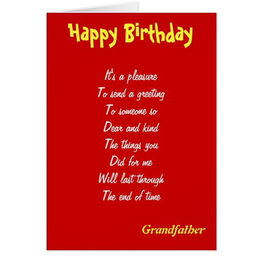 A Kind Grandfather Birthday Cards Zazzle