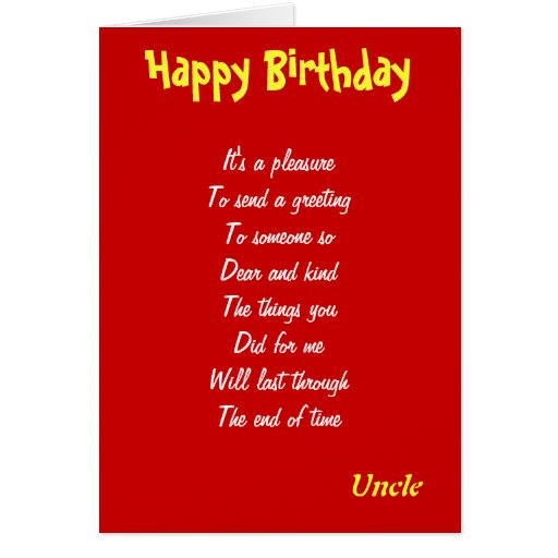 A Kind Uncle Birthday Cards