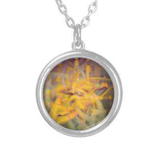 A Kinder, Gentler Abstract on Drugs Silver Plated Necklace