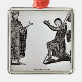 A King and a Knight Metal Ornament