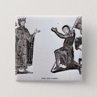 A King and a Knight Pinback Button