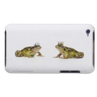 a king and queen frog looking at each other iPod touch cover