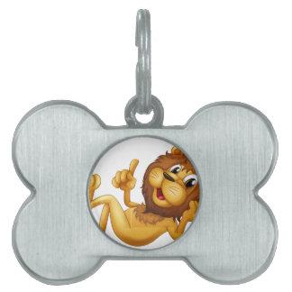 A king lion pet name tag