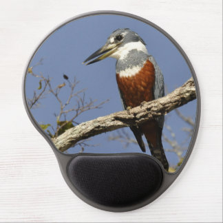 A Kingfisher Perches in a branch of a Tree Gel Mouse Pad