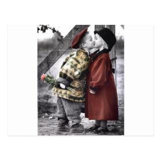 A Kiss, A Rose, My Love Post Card