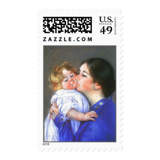 A Kiss For Baby Anne, Mary Cassatt Postage Stamps
