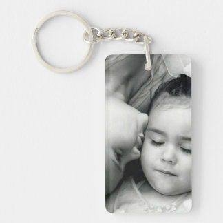 A Kiss For O Rectangle Keychain (2 sided)