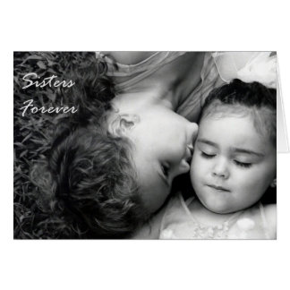 A Kiss For O/Sisters Forever (Blank) Greeting Card