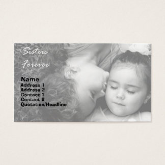 A Kiss For O/Sisters Forever Business Card 1