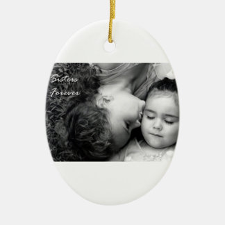 A Kiss For O/Sisters Forever Oval Ornament