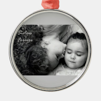 A Kiss For O/Sisters Forever Prem. Round Ornament