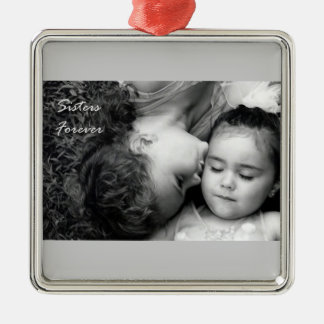 A Kiss For O/Sisters Forever Prem. Square Ornament