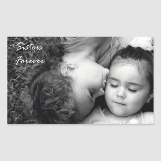 A Kiss For O/Sisters Forever Rectangle Sticker