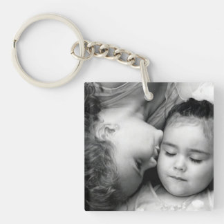 A Kiss For O Square Keychain (2 sided)