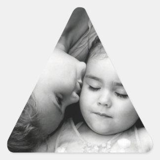 A Kiss For O Triangle Sticker
