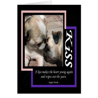 A Kiss... Greeting Card