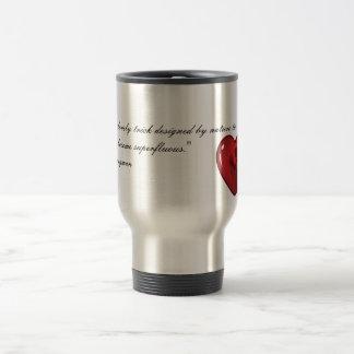 A Kiss is a Lovely Trick Travel Mug