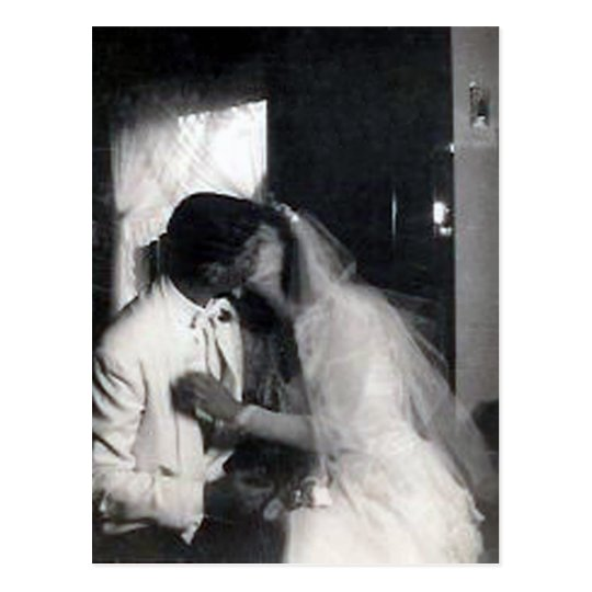 A kiss on the day postcard