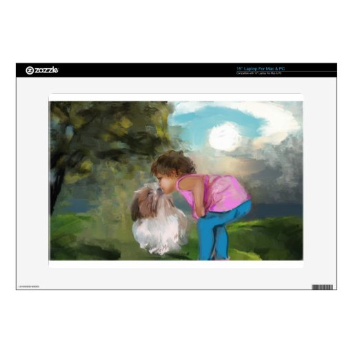 a kiss on the nose laptop decal