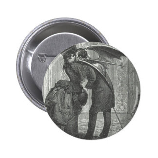 A Kiss Victorian/Gothic Winged Vampire Button