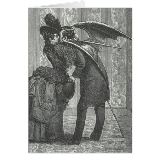A Kiss Victorian/Gothic Winged Vampire Card
