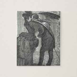 A Kiss Victorian/Gothic Winged Vampire Jigsaw Puzzle