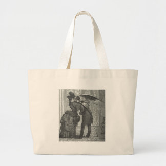 A Kiss Victorian/Gothic Winged Vampire Large Tote Bag