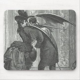 A Kiss, Victorian/Gothic Winged Vampire Mouse Pad