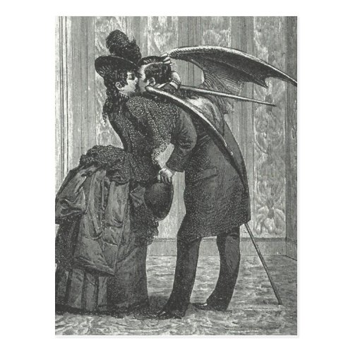 A Kiss VictorianGothic Winged Vampire Postcard
