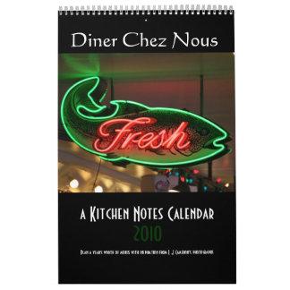 a Kitchen Notes calendar 2010
